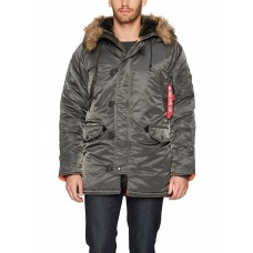 Теплая зимняя куртка Alpha Industries Men's N-3B Slim-Fit