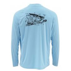 Термофутболка с длинным рукавом Simms SolarFlex® Prints Shirt - UPF 50+