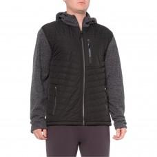 Флисовая кофта c капюшоном New Balance Quilt Logo Pocket Sweater Fleece Jacket - Hooded