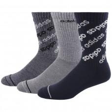 Влагоотводящие термоноски для теплой погоды Аdidas Linear Repeat Socks – 3 шт. уп-ка